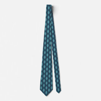 Diatom Ogee Pattern Blue Neck Tie