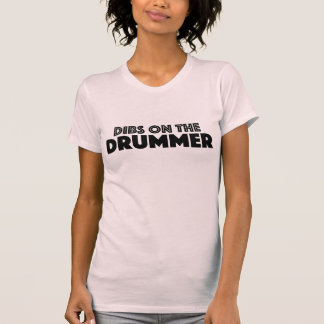 Dibs On The Drummer Pink Customisable T Shirt