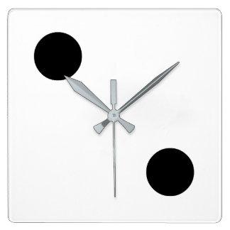 Dice 2 square wall clock