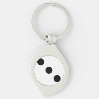 Dice 3 key ring