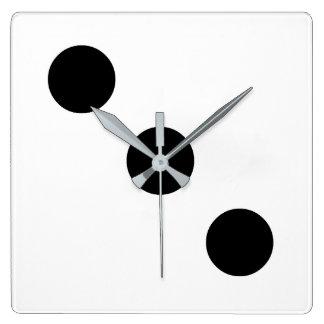 Dice 3 square wall clock
