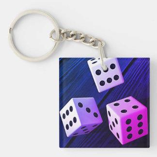 Dice 3D Key Ring