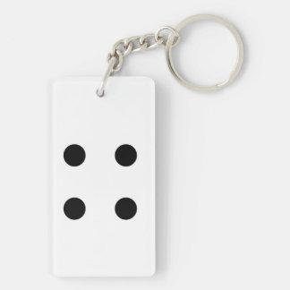 Dice 4 key ring