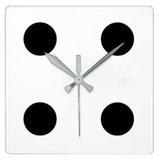Dice 4 square wall clock