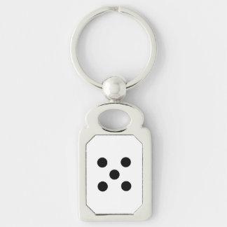 Dice 5 key ring