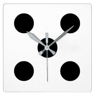 Dice 5 square wall clock