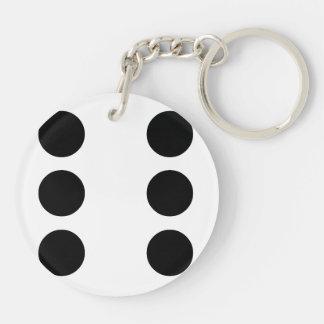 Dice 6 key ring