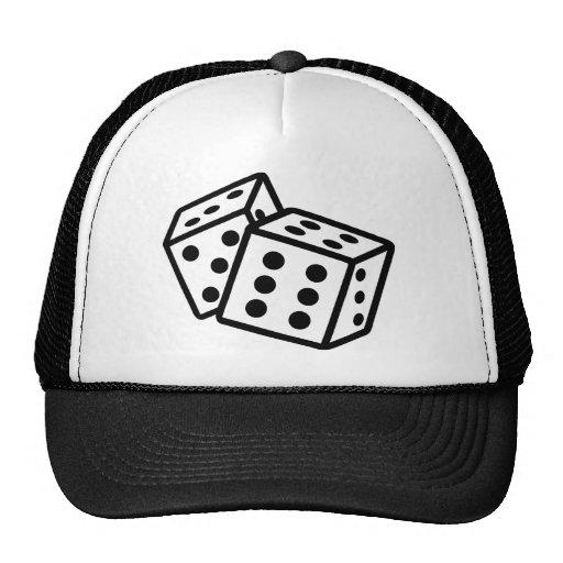 dice casino gambling trucker hats