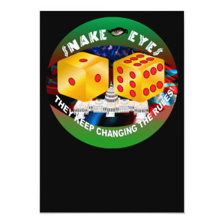Dice-changing Rules 1R 13 Cm X 18 Cm Invitation Card