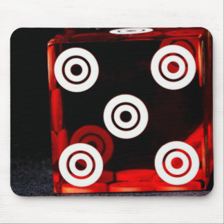 Dice Close up Mouse Pad