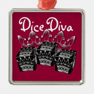 dice diva ornament