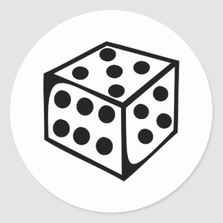 Dice - Five Classic Round Sticker