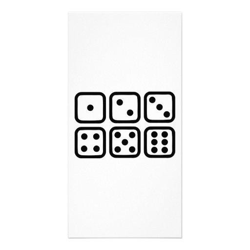 Dice gambling photo card