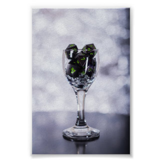 Dice in Glass poster (Silver)