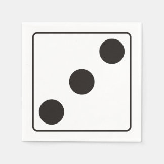 DICE numbers of pips 3 + your backgr. Paper Napkin