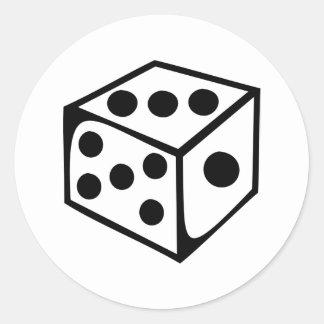 Dice - Three Classic Round Sticker