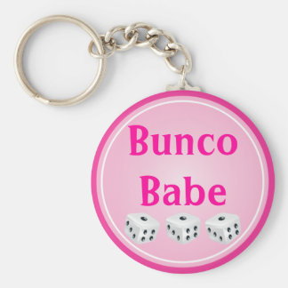 dice with pink circle customizable key ring
