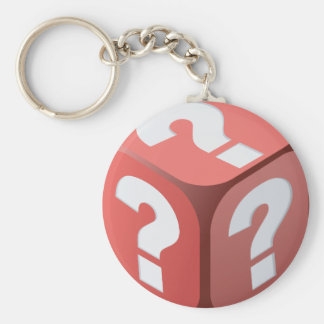 Dice With Question Marks Keychain
