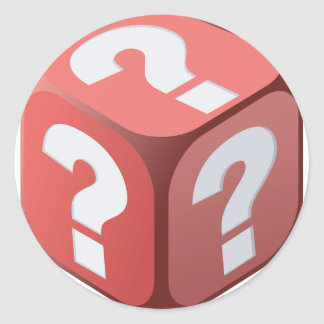 Dice With Question Marks Stickers