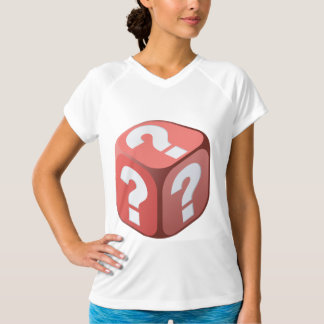 Dice With Question Marks Womens Active Tee