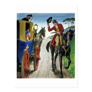 Dick Turpin (1706-39) from 'Peeps into the Past', Postcard