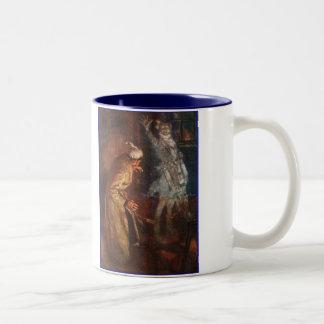 Dickens A Christmas Carol Scrooge & Marley Two-Tone Coffee Mug