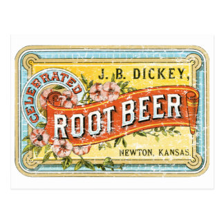 Dickey Root Beer-1899 - distressed Postcard