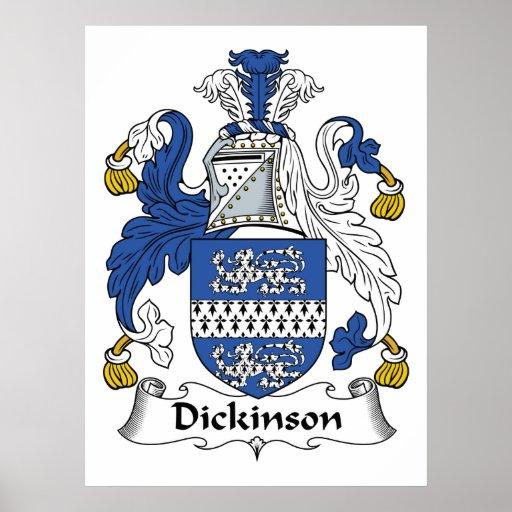Dickinson Family Crest Print