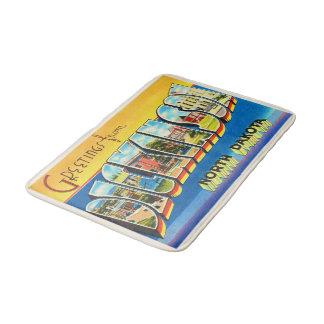Dickinson North Dakota ND Vintage Travel Souvenir Bath Mats