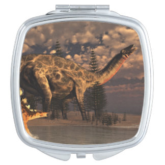 Dicraeosaurus and kentrosaurus dinosaurs - 3D rend Mirror For Makeup
