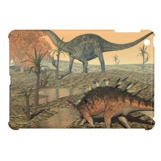 Dicraeosaurus and kentrosaurus dinosaurs cover for the iPad mini
