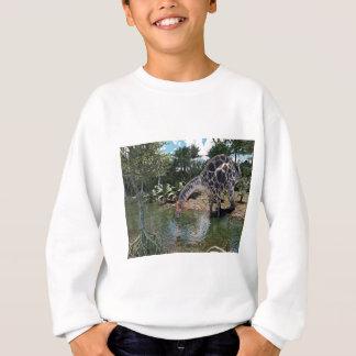 Dicraeosaurus Dinosaur Feeding on a River Sweatshirt