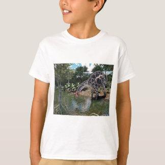 Dicraeosaurus Dinosaur Feeding on a River T-Shirt