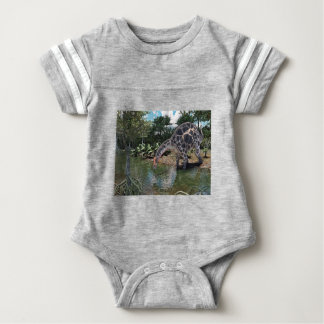 Dicraeosaurus Dinosaur Jungle Scene Baby Bodysuit