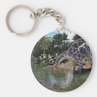 Dicraeosaurus Dinosaur Jungle Scene Key Ring