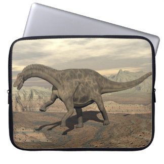 Dicraeosaurus dinosaur walking - 3D render Laptop Sleeve