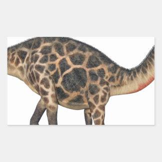 Dicraeosaurus In Side Profile Rectangular Sticker