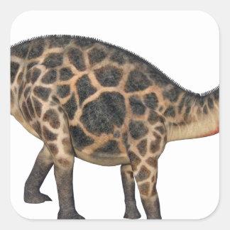Dicraeosaurus In Side Profile Square Sticker