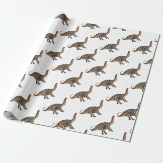 Dicraeosaurus In Side Profile Wrapping Paper