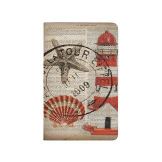 dictionary prints art coastal seashell lighthouse journal