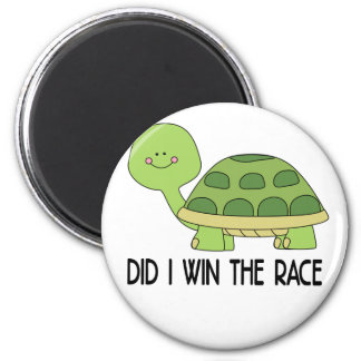 Did I Win The Race.png 6 Cm Round Magnet