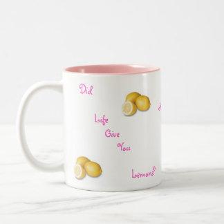Did life give you lemons? No worries... Two-Tone Mug