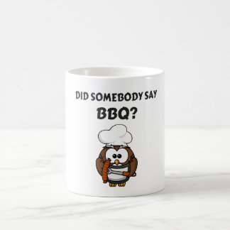 Did Somebody Say BBQ? Funny Penguin BBQ Coffee Mug