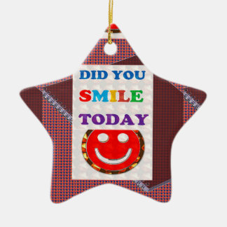 DID U Smile 2DAY - Bright Colors Positive Strokes Christmas Ornaments