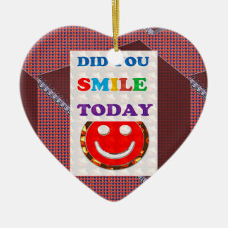 DID U Smile 2DAY - Bright Colors Positive Strokes Christmas Ornament