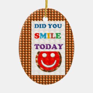 DID U SMILE S M I L E  today - ART NavinJoshi GIFT Ornament
