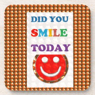 DID U SMILE today? Wisdom Golden Text Jewel FUN Coaster