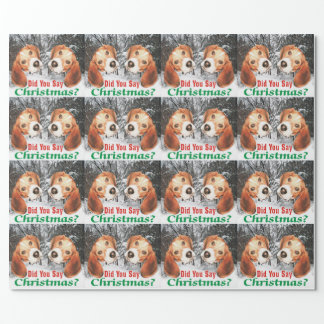 Did You Say Christmas? Beagle Wrapping Paper