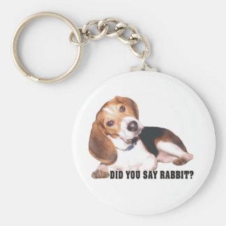 Did you Say Rabbit Beagle Key Chain