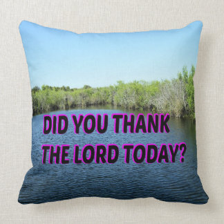 Did You Thank The Lord Today? Cushion